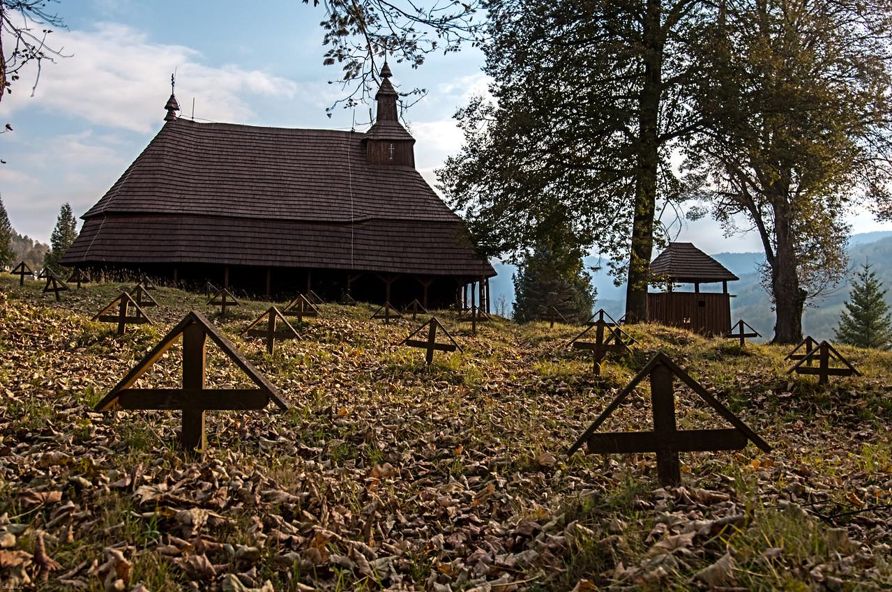 drevenný kostolík Topoľa