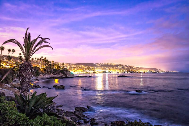 Looking back over my shoulder at downtown Laguna Beach after watching the sun drop across the pacific and finally falling below the horizon. <br /> .<br /> .<br /> .<br /> .<br /> <br /> #Sunset #Beach #OCPhotog #Landscape #SeaScape #SoCal #landscape_joy #viewbug #Photography #CanonUSA #Canon6D #MeAndMyManfrotto #PicOfDay #California  #unlimitedadventure #awesome_earthpix #awesomeearthpix #discoverglobe #TheGlobeWanderer #LiveBravely @awesome.earth.pix  #OptOutsideAndExplore #LagunaLiving #OCWeekly #MyLagunaBeach #LiveLagunaBeach #LagunaBeachCommunity #OrangeCounty #Laguna #LagunaBeach