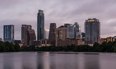 DOWNTOWN AUSTIN, FOGGY MORNING