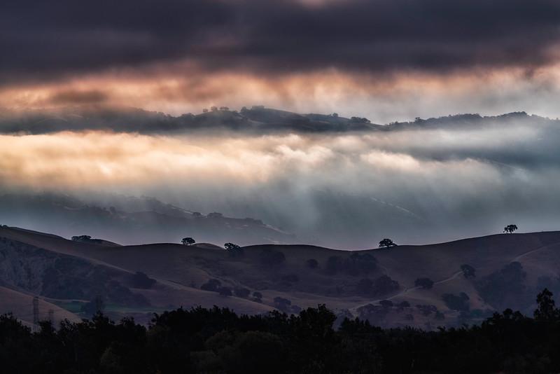 Light and Fog Along the Ridges
