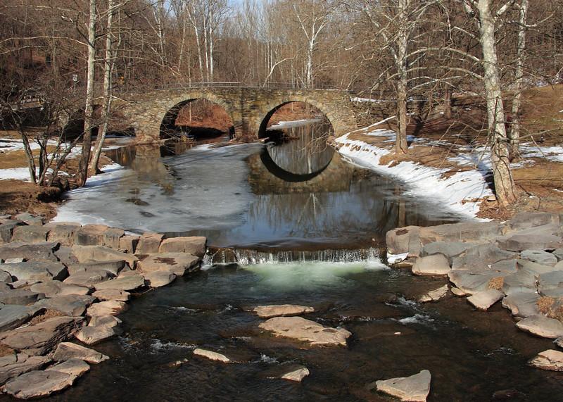 Historic Stone Arch Bridge on Catskill Creek in Jeffersonville, NY