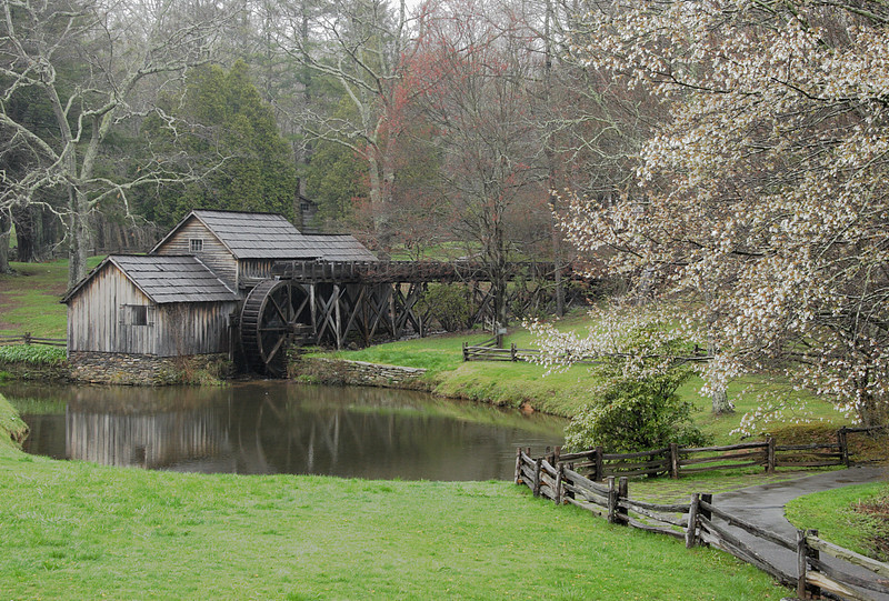 Mabry Mill in early Spring. Located on the Blue Ridge Pky in Virginia.