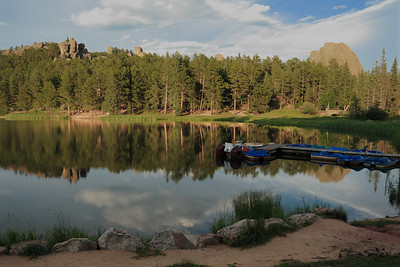 Sylvan Lake. Located in Custer State Park in the Black Hills of South Dakota.