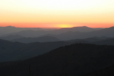 Sunset on Clingman's Dome. Smoky Mt NP, NC.