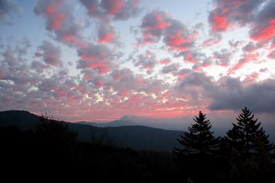 Sunrise on Clingman's Dome. Smoky Mt NP, NC.