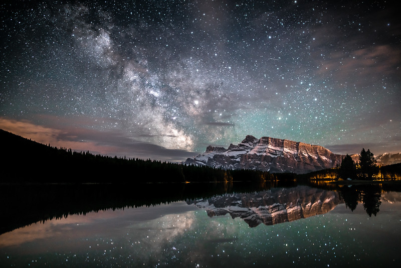 Milky Way over Banff National Park, Alberta