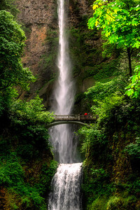 Multnomah Falls, Columbia River Gorge, Oregon, USA