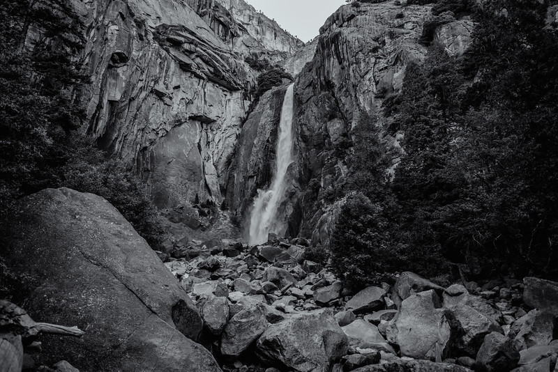 Nightfall at Lower Yosemite Falls