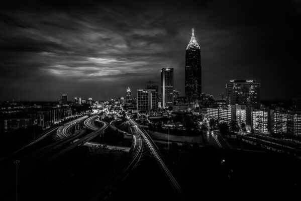 Downtown Atlanta in B&W