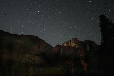 Upper Yosemite Falls at Night