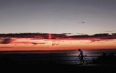 Sunset at the top of Mount Diablo, Danville, California.
