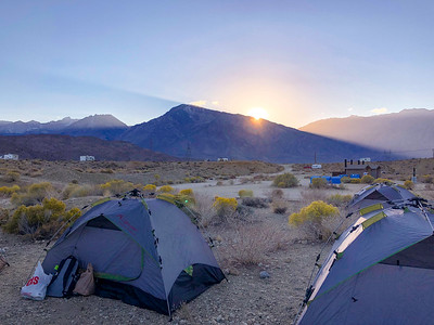 Sunrise at Camp in Bishop