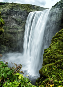 Iceland Skógafoss Waterfalls