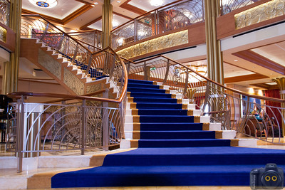 Disney Dream's Grand Staircase in the Foryer