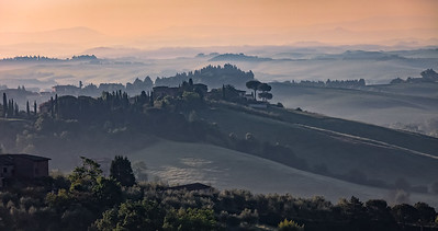 View from Volterra, Tuscany, Italy