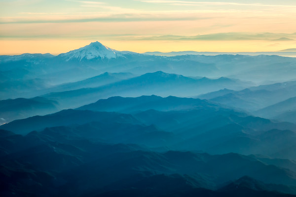 Mt Jefferson , from Up in the Air