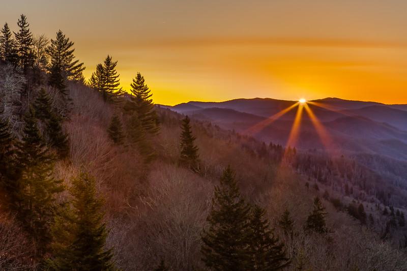 Early March Oconaluftee Sunrise