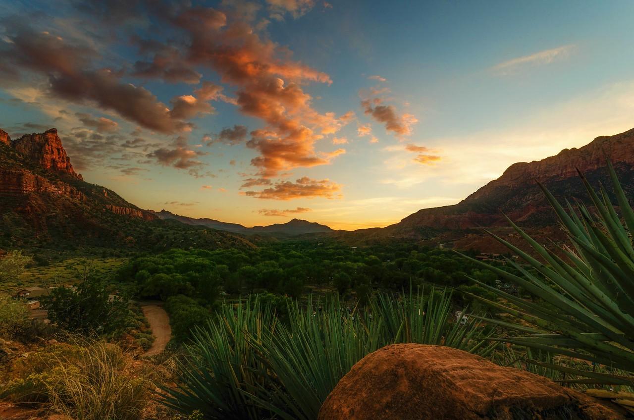 Watchman Campground, Zion National Park, UT