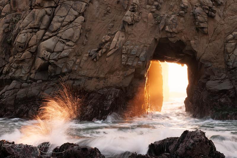 Door to Heaven - Pfeiffer Beach, Big Sur, CA