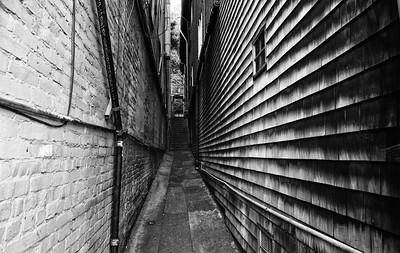 An alley near Sausalito Downtown