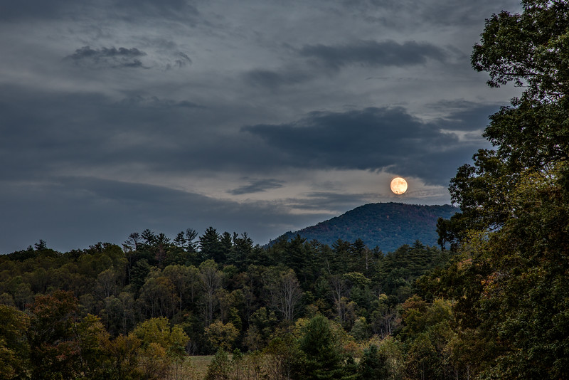 Moon Rise Over Bote Mountain