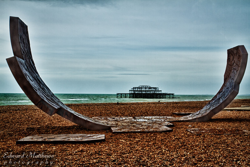 Brighton pier (England), burned down some years ago.