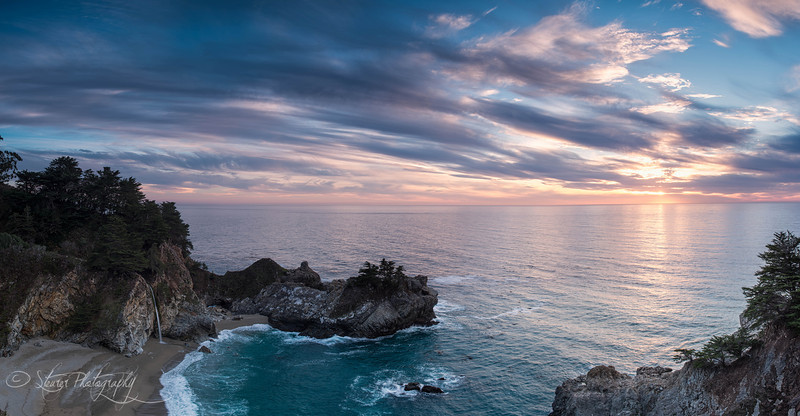 Sunset at the cove - McWay Falls, Big Sur, CA