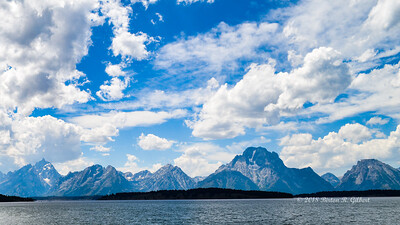 Grand Tetons over the Lake
