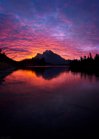 Crimson Reflection - Canmore, Alberta
