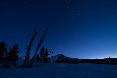 Twilight Climbers on Mt. Hood