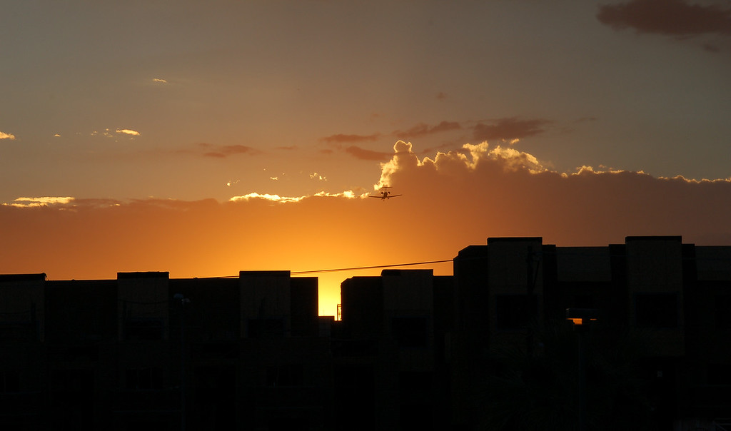 Sunset in Tempe Downtown