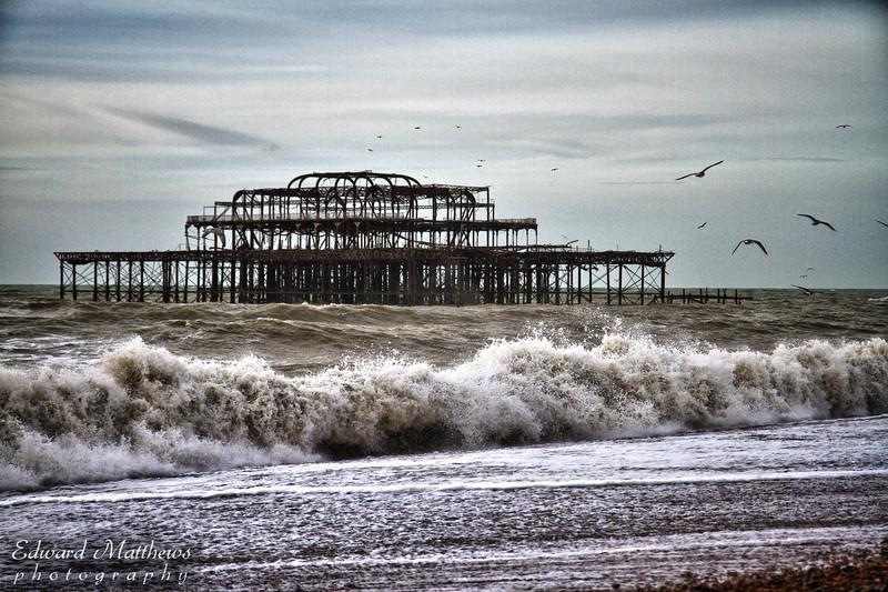 Brighton Pier (it burned down)