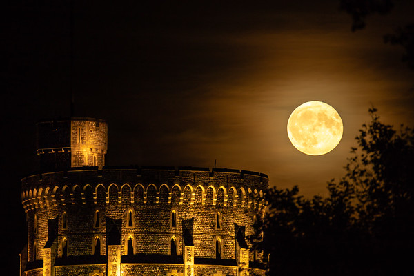 Harvest Moon over Windsor Castle