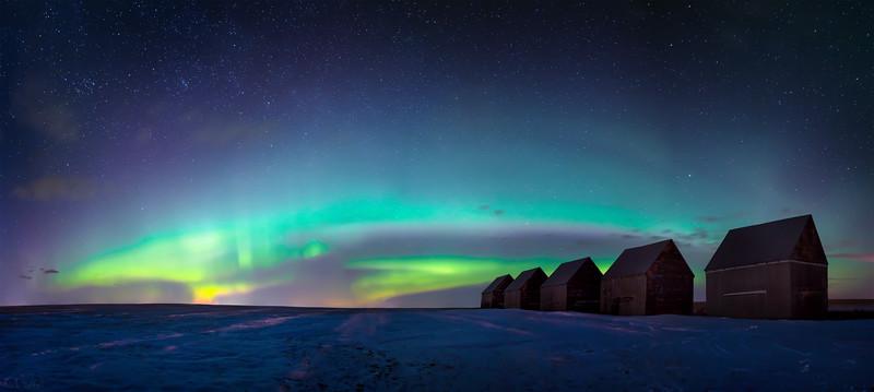 Nature's Night Light - Beiseker, Alberta