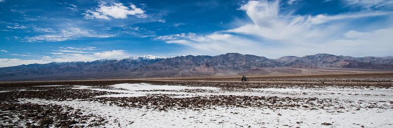 Dude cruising through the desert