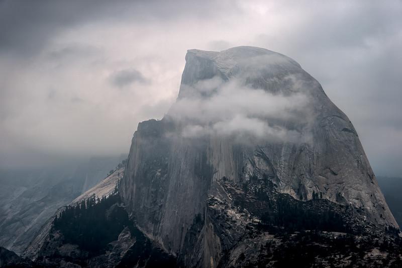 Half Dome in Cloud