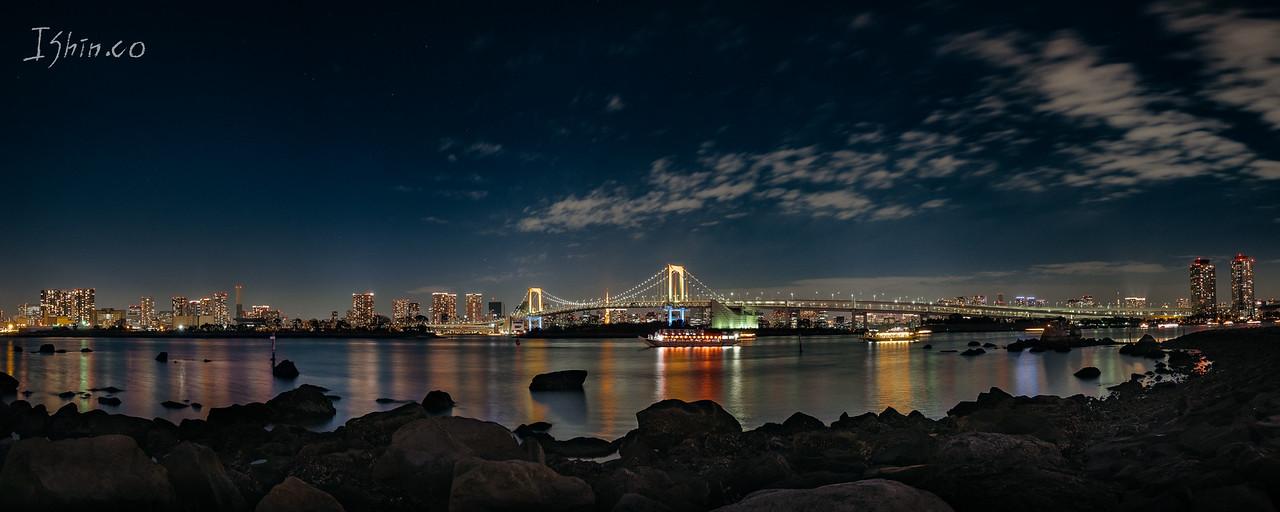 오다이바 레인보우 브릿지 #일본 #도쿄 #오다이바 #여행 #다리 #레인보우브릿지 #야경 #풍경 #도시풍경 #japan #odaiba #bridge #nightscape #cityscape #travel