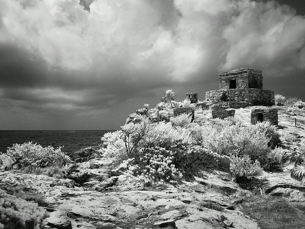 Tulum Mexico infrared