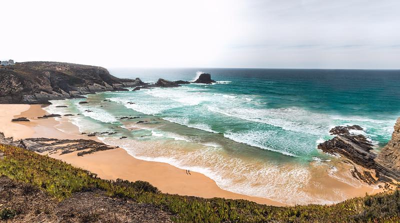 Grand view of Praia de Zambujeira do Mar, Alentejo