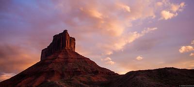Pariott Mesa at sunset - Castle Valley