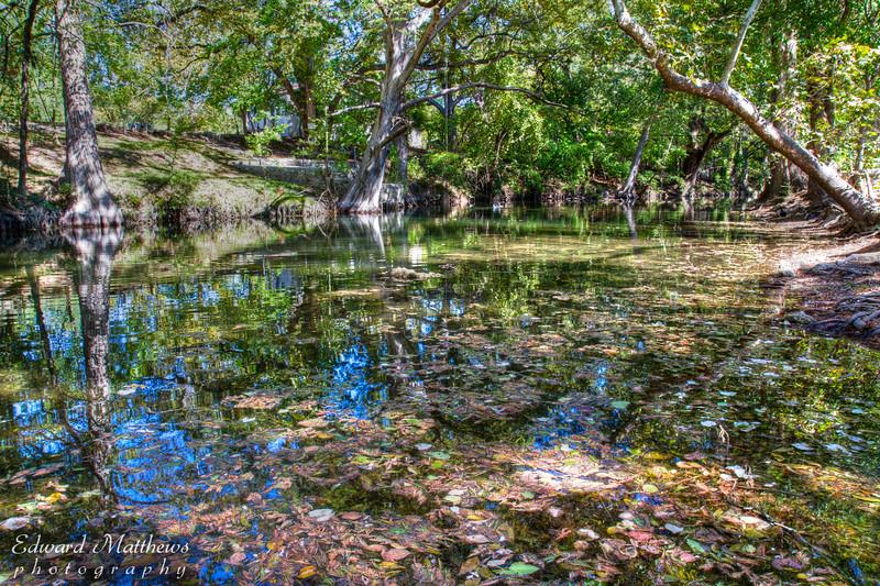 Creek running thru Wimberley, TX