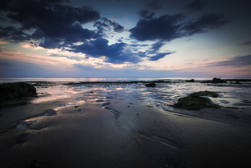 'Into The Blue' - taken in Hunstanton, Norfolk, a sunset shot with some amazing colours and reflections.