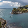 Entering Lulworth cove