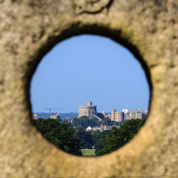 Windsor Castle through the eye