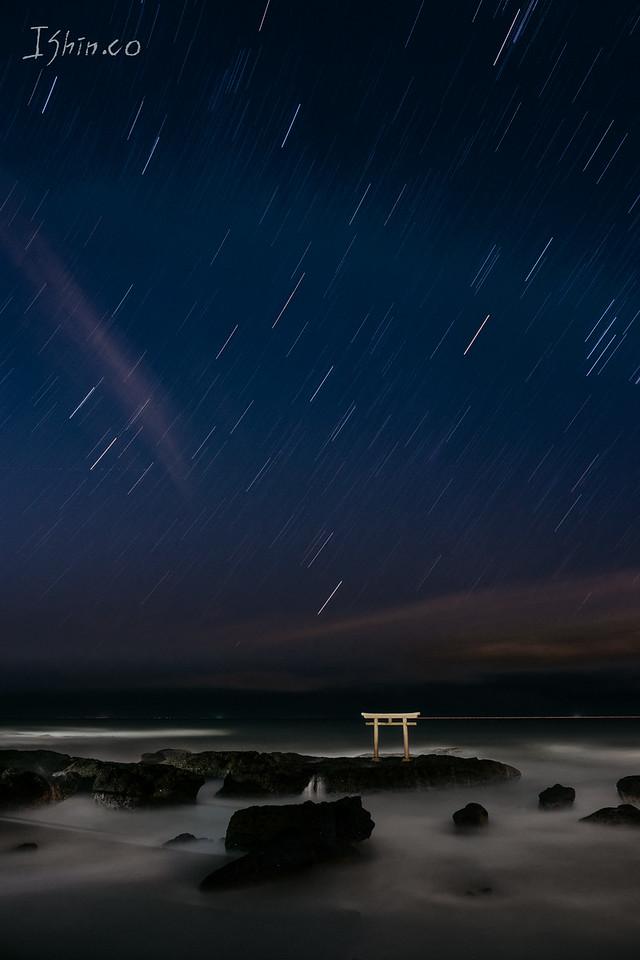 오아라이 #일본 #오아라이 #여행 #야경 #별 #밤하늘 #하늘 #별밤 #신사 #oarai #star #nightscape #japan #travel #