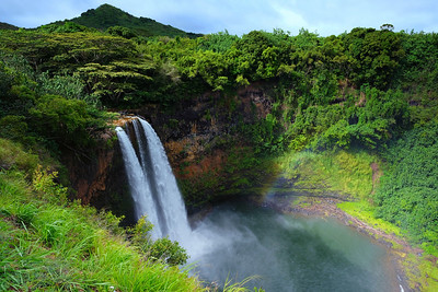 Gorgeous Wailua Falls, Kauai Hawaii