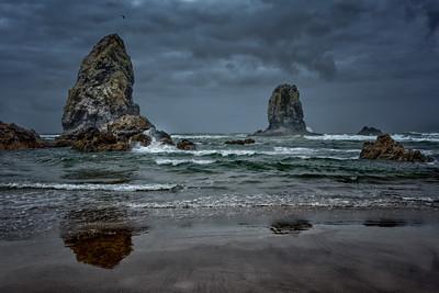 Sea Stacks And Surf