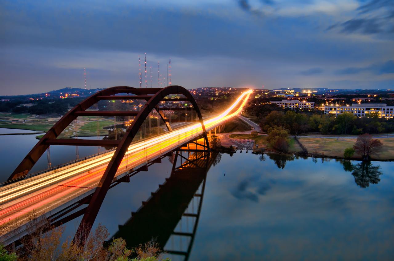 Pennybacker Bridge at Dusk