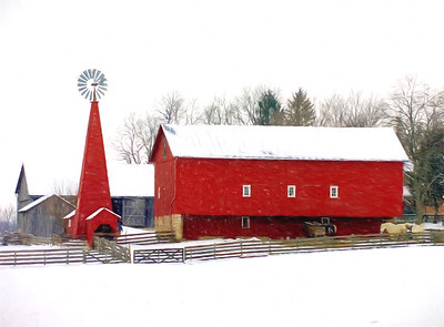Winter at Carriage Hill Farm.