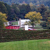 The Red Barn and the New Farm House at Persimmon Creek